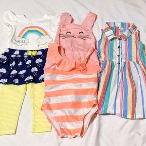 5pc 12mo Baby Girl Clothes Bundle